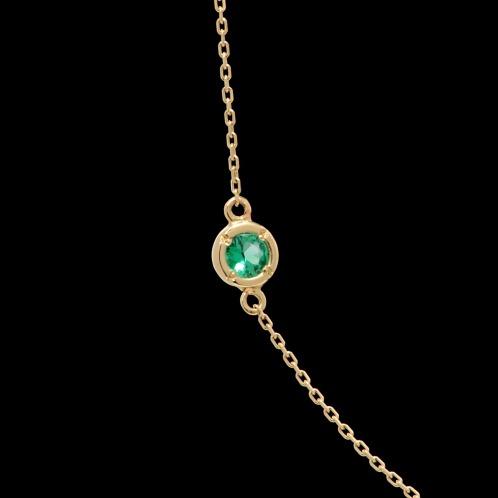 リアル ゴールデン イニシャル 18K誕生石ネックレスの画像