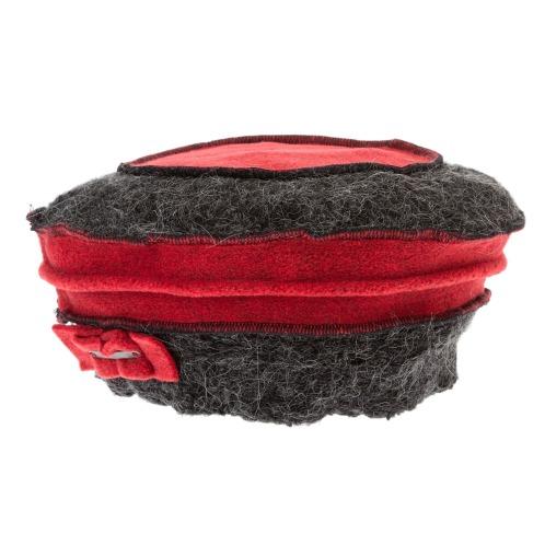 ダジュール ダジュールリボン風モティーフアクセントニット帽子 …¥9900の在庫を確認する