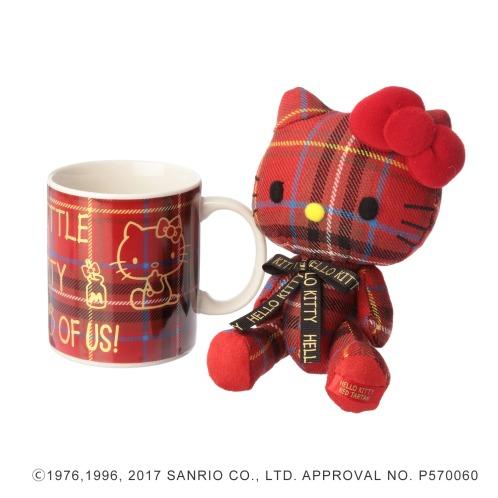 サンリオ ハローキティ×ロキャロンハローキティレッドマスコットホルダー&マグカップ(陶磁器 ホーム雑貨 コレクターズ・お花)の画像
