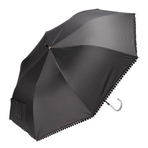 ショートワイドヒガサ <ハートレース>強い日差しにも急な雨にも活躍! 晴雨兼用ショートワイド傘(その他 ホーム・インテリア)の画像