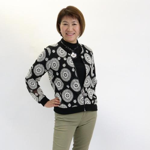 ダジュール ダジュールレースブルゾン(ジャケット ファッション)の画像