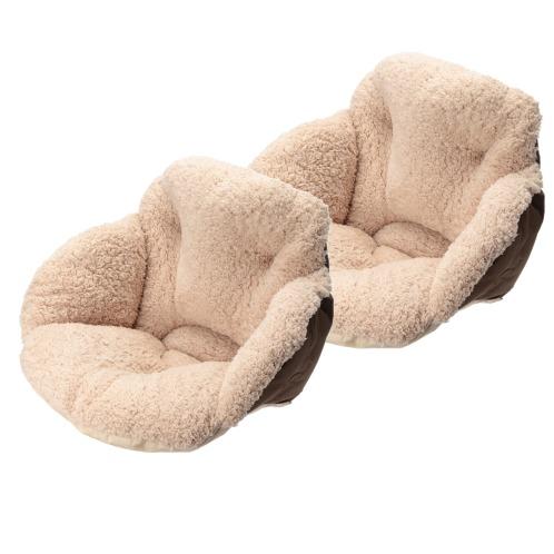 """コジット 腰周りぬくぬく! ボリュームクッション """"腰楽すっぽり座れる毛布""""2個セット(インテリア ホーム・インテリア)の画像"""