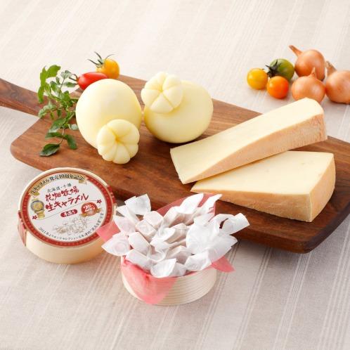 ハナバタケボクジョウ 花畑牧場自家製チーズ2種と生キャラメルセット(惣菜・パン・その他 グルメ・お酒)の画像