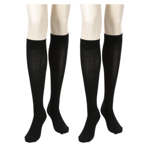 ステイフィット メディカルステイフィット140デニール綿混ハイソックス同色2足セット(下着・ランジェリー ファッション)の画像