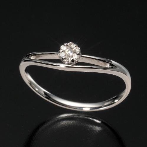 プラチナストーリー プラチナストーリープラチナ900ダイヤモンドラウンドミステリーセッティングダブルラインリング(プラチナ リング ジュエリー)の画像