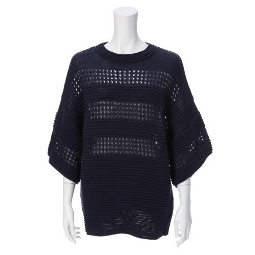ディ モーダ ディ モーダ ビッグシルエット メッシュニット プルオーバー(セーター ファッション)の画像