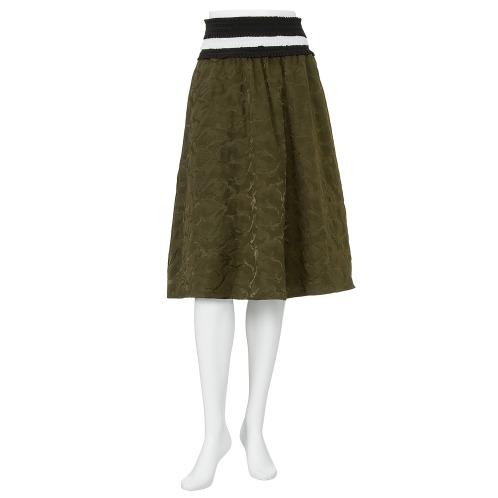 マダムミーナ マダムミーナカモフラージュ柄ジャガードギャザースカート(スカート ファッション)の画像
