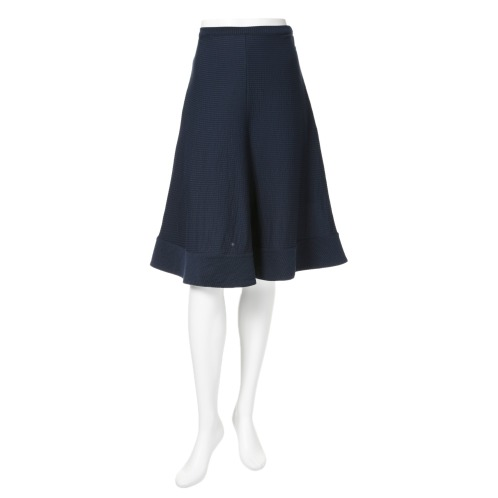 エイガールズ エイガールズスビン綿混シアサッカーカットソーAラインスカート(スカート ファッション)の画像