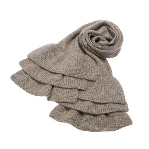 コフレ ラフィーネ コフレ ラフィーネヤクフリルアクセントマフラー(セーター ファッション)の画像