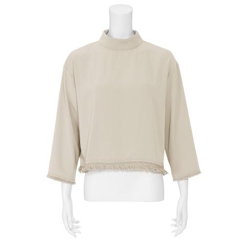 ボンサンス ボン・サンス裾フリンジアクセントプルオーバー(ワンピース ファッション)の画像