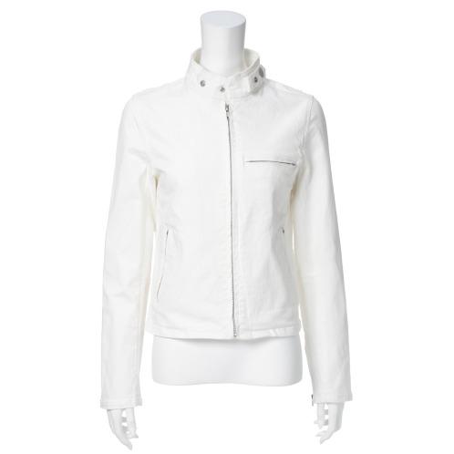 フレア フレアストレッチデニムジップアップブルゾン(ジャケット ファッション)の画像