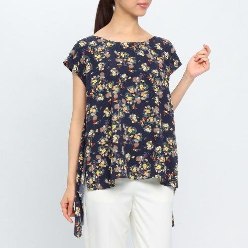 シュガーローズ シュガーローズ 小花柄 スリットデザイン プルオーバー(セーター ファッション)の画像