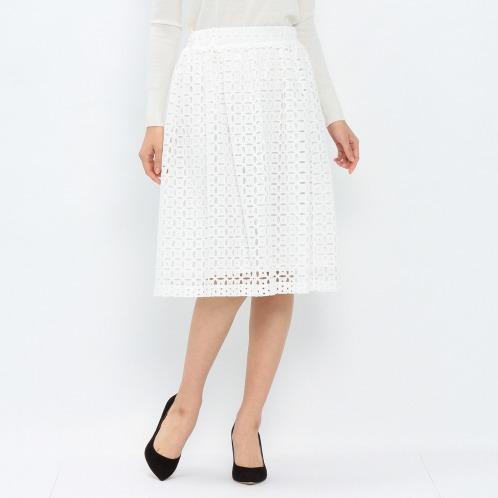 シュガーローズ シュガーローズカットワーク刺しゅうフレアースカート(スカート ファッション)の画像