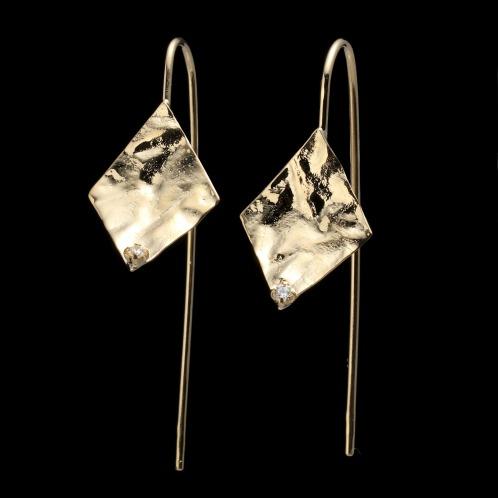 エムイー・ブリランテ エムイー・ブリランテ18Kダイヤモンドロンバスデザインピアス(18K ピアス ジュエリー)の画像