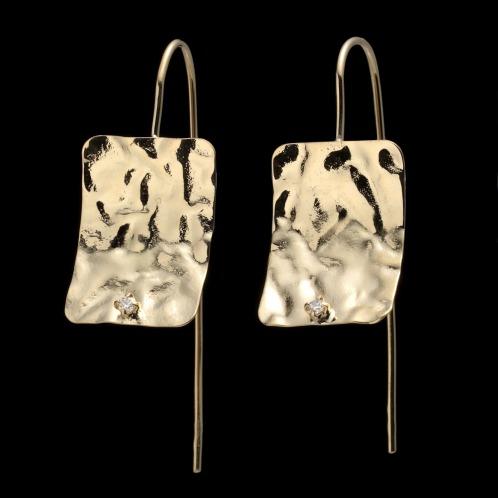 エムイー・ブリランテ エムイー・ブリランテ18Kダイヤモンドスクエアデザインピアス(18K ピアス ジュエリー)の画像