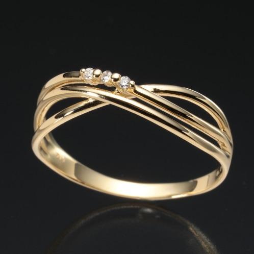 エムイー・ブリランテ エムイー・ブリランテ18Kダイヤモンドクロスデザインリング(18K リング ジュエリー)の画像