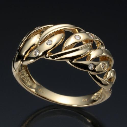 エムイー・ブリランテ エムイー・ブリランテ18Kダイヤモンドチェーンデザインリング(18K リング ジュエリー)の画像
