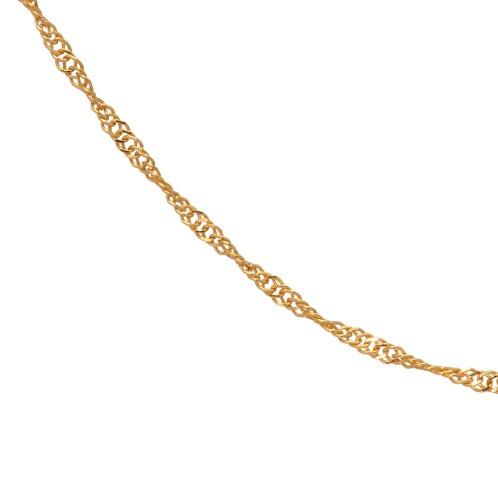 ラピュアバイチェーンクリエイト 純金スクリューチェーンネックレス(24K ネックレス ジュエリー)の画像