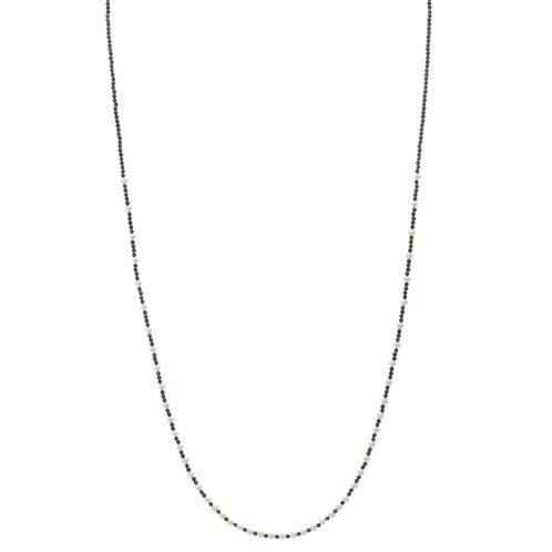 ブレーズ ブレーズブラックスピネル&ベビー淡水パールロングネックレス(シルバー ネックレス ジュエリー)の画像
