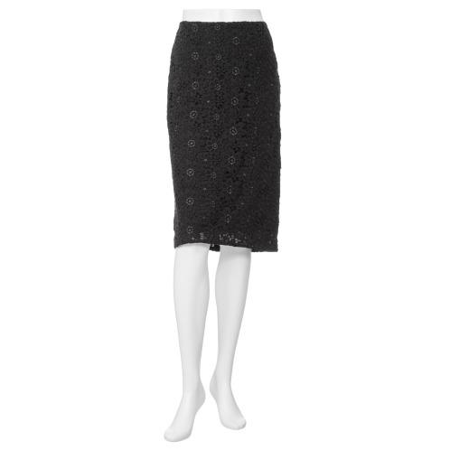 フォーティーナインアヴェニュージュンコシマダ 49AV.ジュンコシマダフラワーレースタイトスカート(スカート ファッション)の画像