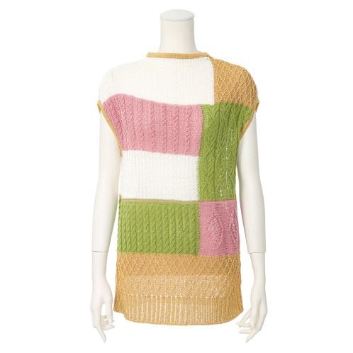 ボア デ ブローニュ ボア デ ブローニュブロック柄プルオーバー(セーター ファッション)の画像