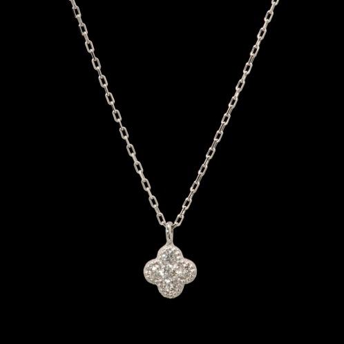 ジュビリー バイ ブルーリバー ダイヤモンド ジュビリー18Kダイヤモンドクローバーモティーフプティネックレス(18K ペンダント・ペンダントトップ ジュエリー)の画像