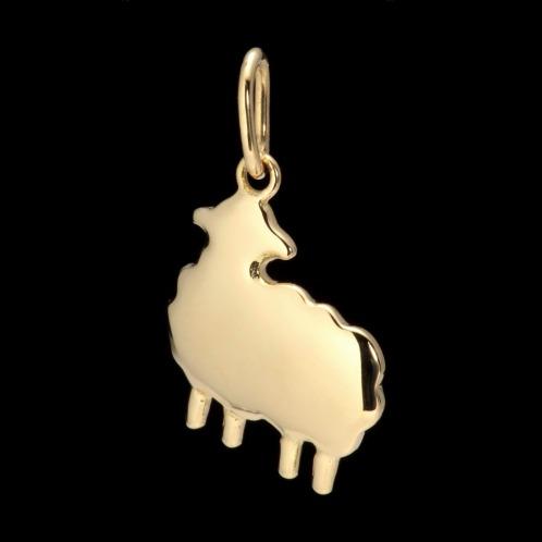 リアル ゴールデン イニシャル 18K羊モティーフラッキーチャームの画像