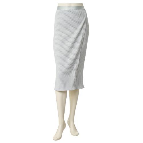 エイガールズ エイガールズコットンワイドリブラップ風デザインタイトスカート(スカート ファッション)の画像