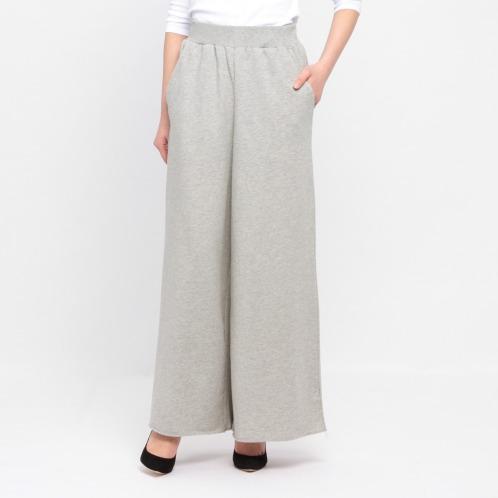 フレア フレアミニ裏毛ワイドパンツ(スカート ファッション)の画像