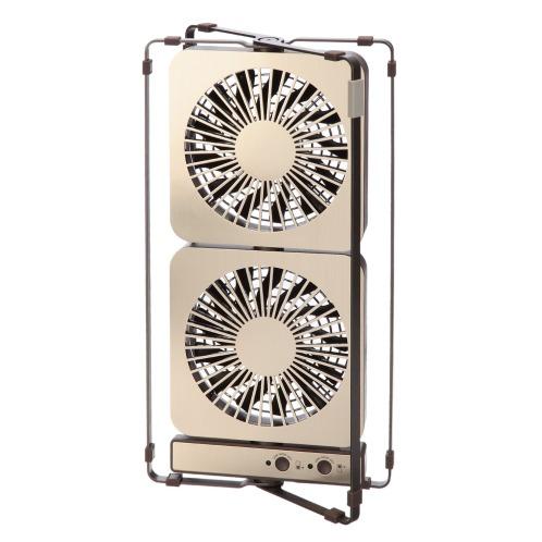 ドウシシャ コンパクトサイズで縦にも横にも置ける! ツインデスクファンFDS−101U(除湿機 空気清浄機・加湿・除湿・冷暖房 家電・エレクトロ)の画像