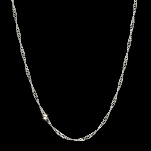ラピュアバイチェーンクリエイト 純プラチナスクリューチェーンロングネックレス(プラチナ ネックレス ジュエリー)の画像