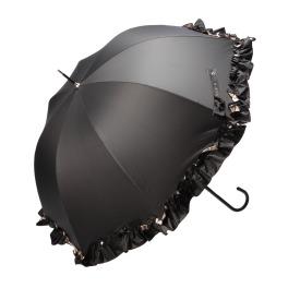 ミキフィーユ 美肌研究家・ 白川みきの おリボンUVカット 晴雨兼用フリル日傘