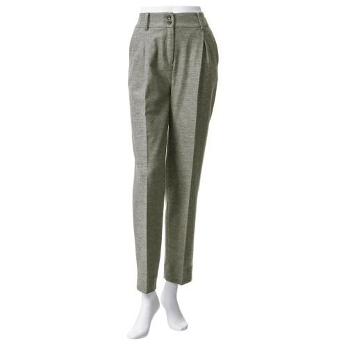 グランプルミエ グランプルミエウール混ツイルストレートパンツ(パンツ ファッション)の画像