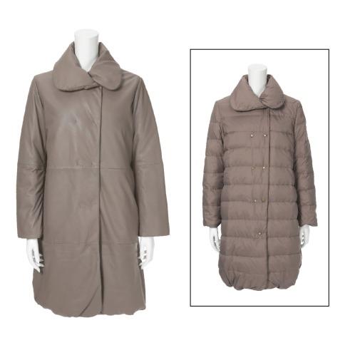 コノリコ コノリコ上質ラグジュアリーソフトラムレザーリバーシブルダウンコート(コート ファッション)の画像