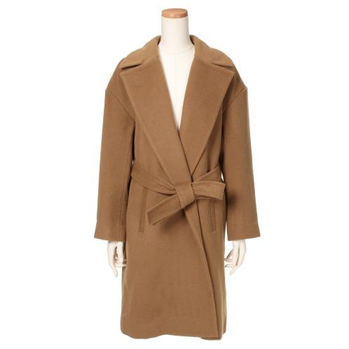 エムエススリー エムエススリーウール混ロングガウンコート(コート ファッション)の画像