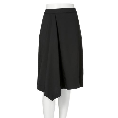 ミッテンテ ミッテンテサイドドレープデザインセミフレアースカート(スカート ファッション)の画像