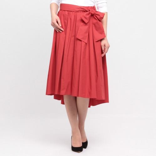 デミルクス ビームス デミルクス ビームスコットンタイプライターギャザーデザインフレアースカート(スカート ファッション)の画像