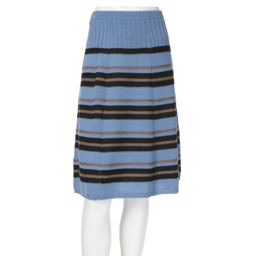 ベネーレ バイ ディディ・グランジェ ベネーレ バイディディ・グランジェボーダーデザインニットスカート(スカート ファッション)の画像