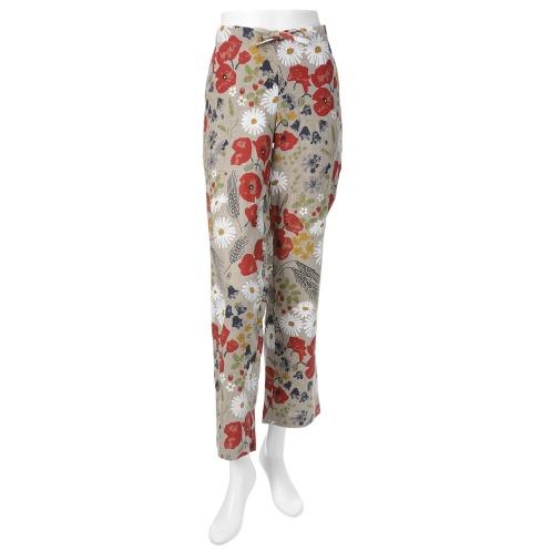 ヴェータ ヴェータボタニカルプリントワイドパンツ(パンツ ファッション)の画像