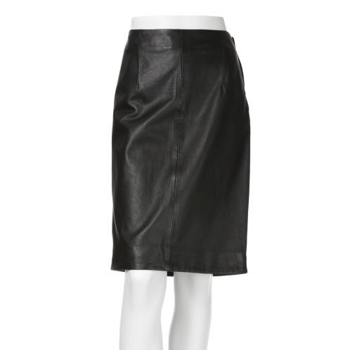 コノリコ コノリコラムレザーセミタイトスカート(スカート ファッション)の画像