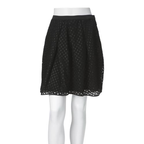 ミオミリアン ミオミリアンレースセミフレアースカート(スカート ファッション)の画像