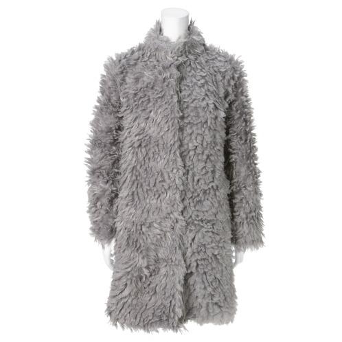 ミントミントミント ミント ミント ミントモコモコパイルスタンドカラーコート(コート ファッション)の画像