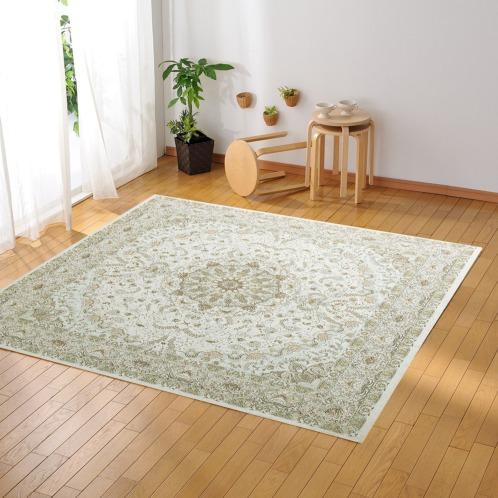 カネヨウ <200×200cm>シェニール糸で織り上げたベルギー製ジャガード織カーペット(インテリア ホーム・インテリア)の画像