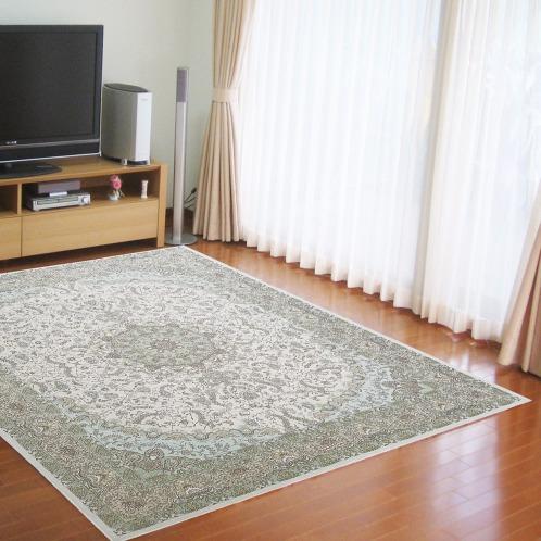 カネヨウ <200×250cm>シェニール糸で織り上げたベルギー製ジャガード織カーペット(インテリア ホーム・インテリア)の画像
