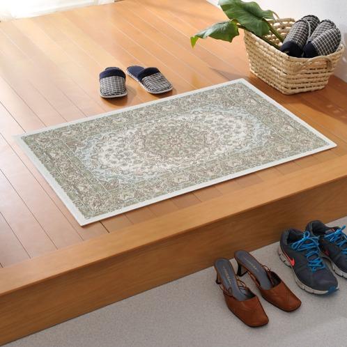 カネヨウ シェニール糸で織り上げたベルギー製ジャガード織マット(インテリア ホーム・インテリア)の画像