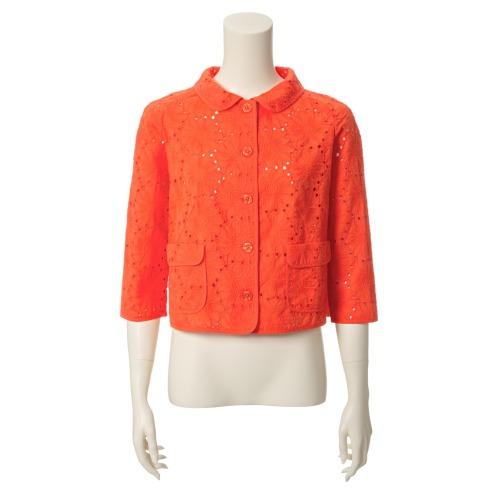 モカサン ジュンコシマダ モカサン ジュンコシマダフラワー刺しゅうジャケット(ジャケット ファッション)の画像