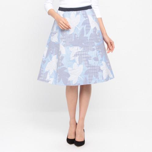 キリ エ キリ キリ エ キリ二重織ジャガードフレアースカート(スカート ファッション)の画像
