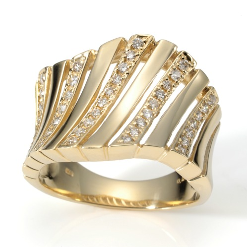 エムイー・ブリランテ エムイー・ブリランテ18Kダイヤモンドシャイニーラインボリュームリング(18K リング ジュエリー)の画像