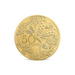 モネ・ド・パリ発行 ヴァンクリーフ&アーペル 創業110周年記念 金貨 50ユーロコイン