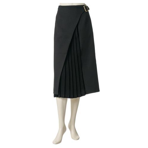 ミューリエ ミューリエプリーツアクセントラップスカート(スカート ファッション)の画像
